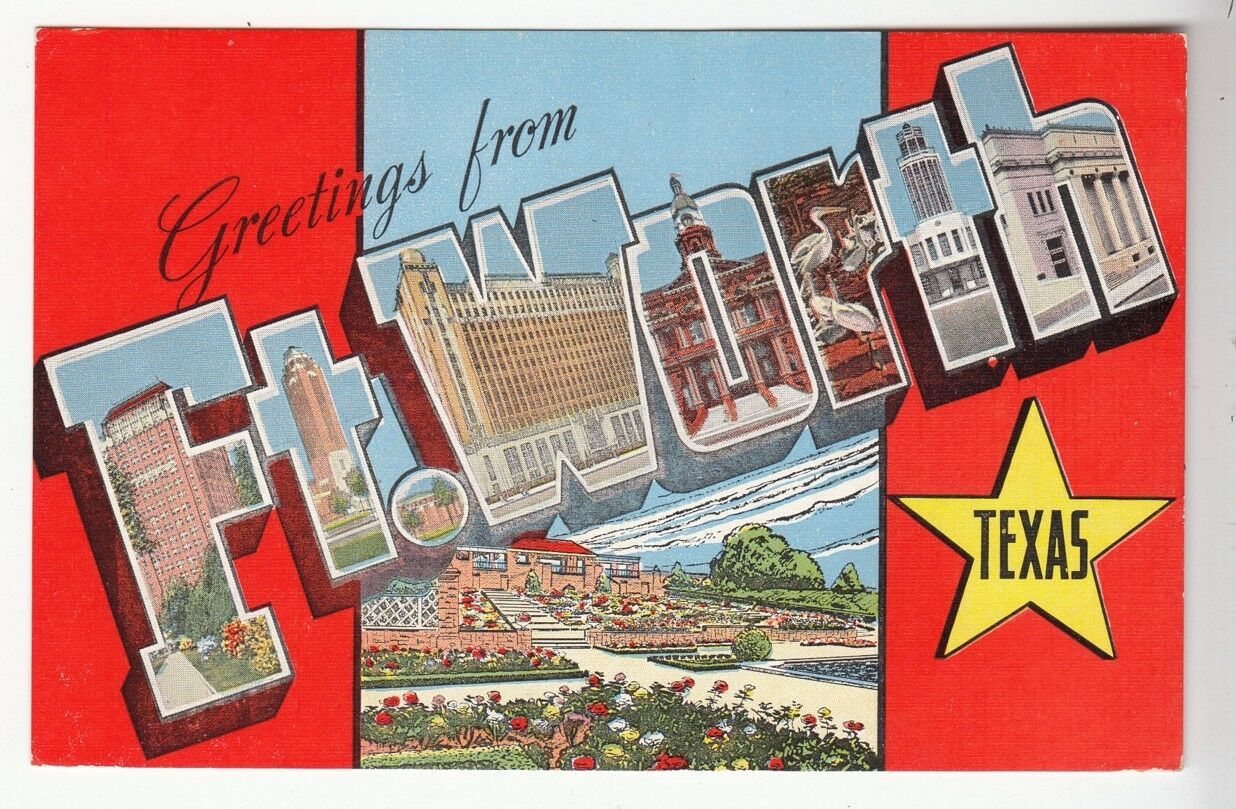 52260 old large letter postcard greetings from ft worth texas 1 of 1only 1 available m4hsunfo