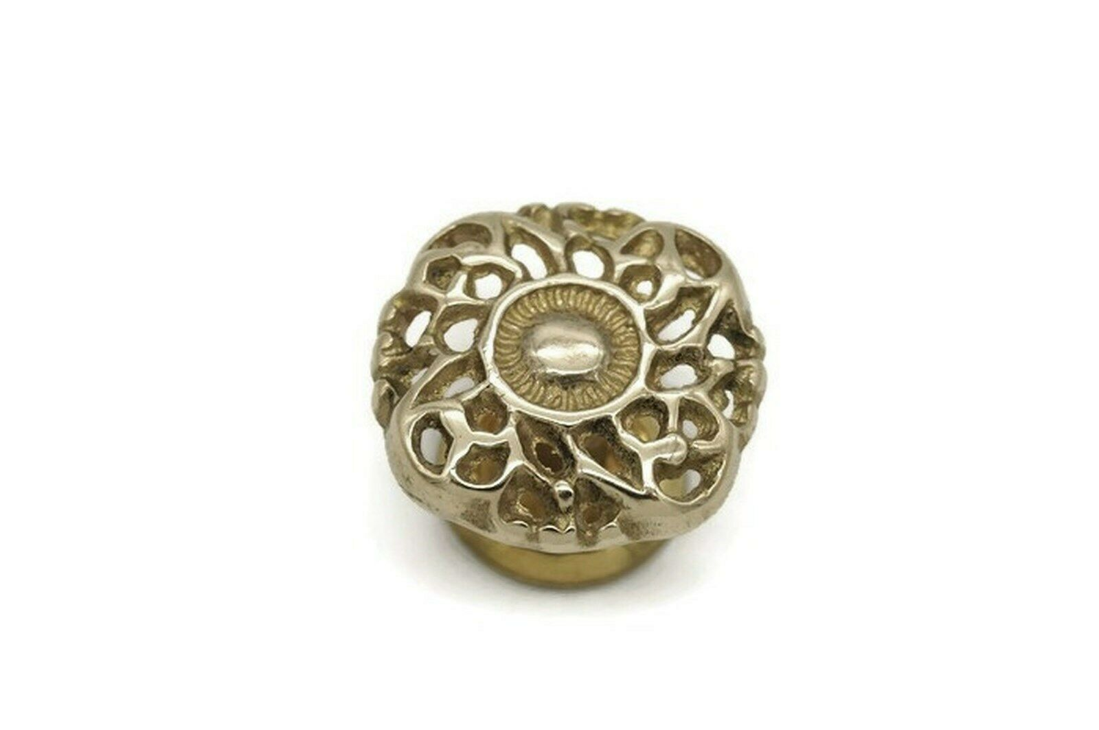 """Antique Style Victorian Drawer Knobs 1 1/2"""" Dia. Solid Brass"""