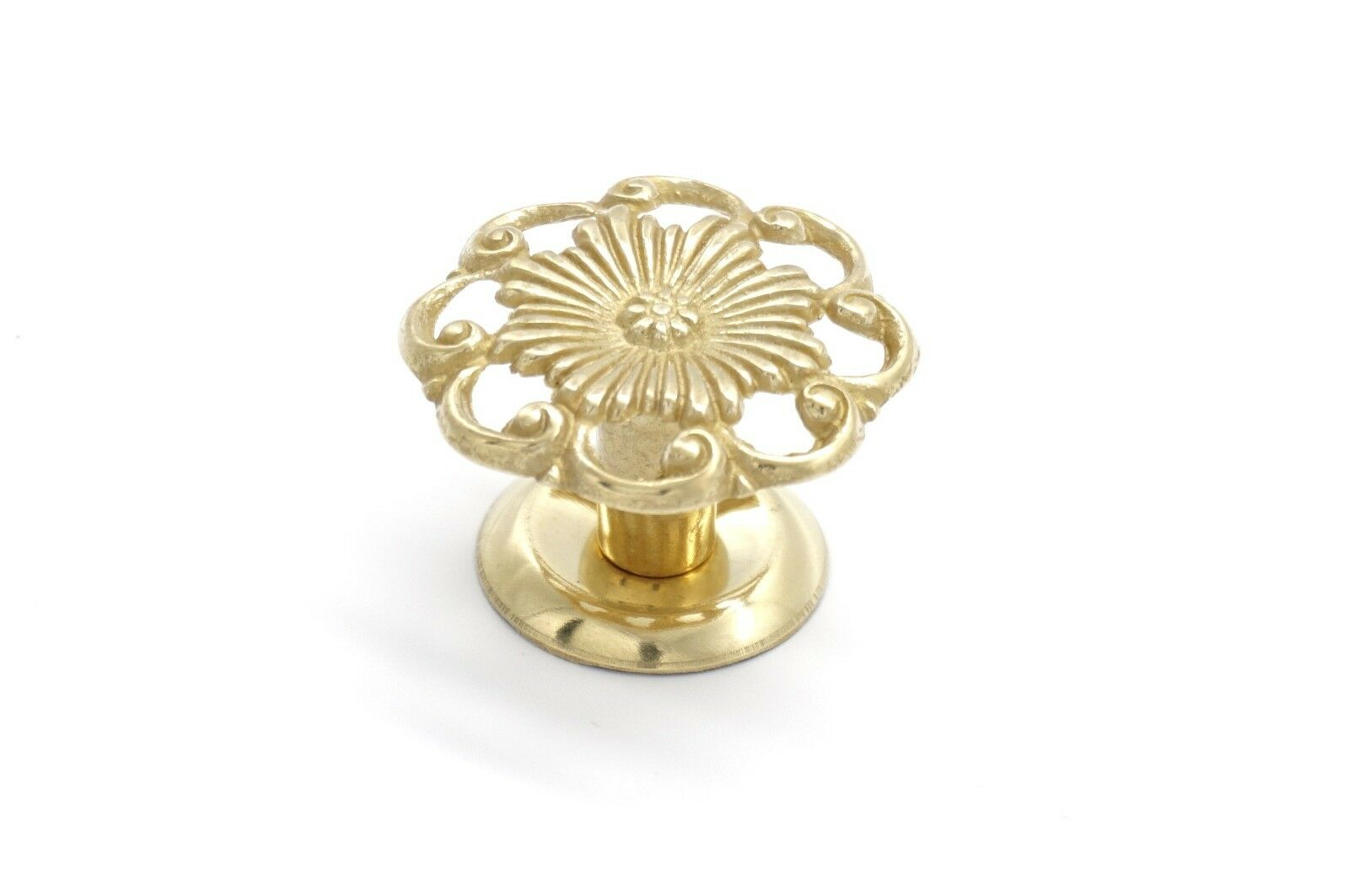 """Antique Style Victorian Drawer Knobs 1 1/4"""" Dia. Solid Brass"""