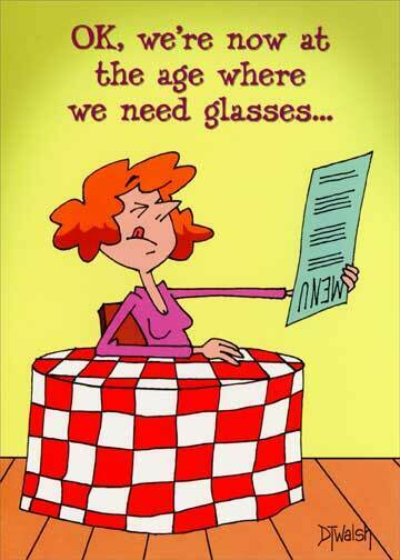 Need Glasses Funny Birthday Card Greeting Card By Oatmeal Studios