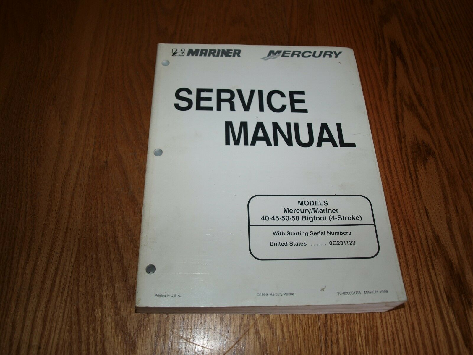 Mercury Mariner Service Manual. 40*45*50*50 Bigfoot (4- 1 of 2Only 1  available ...