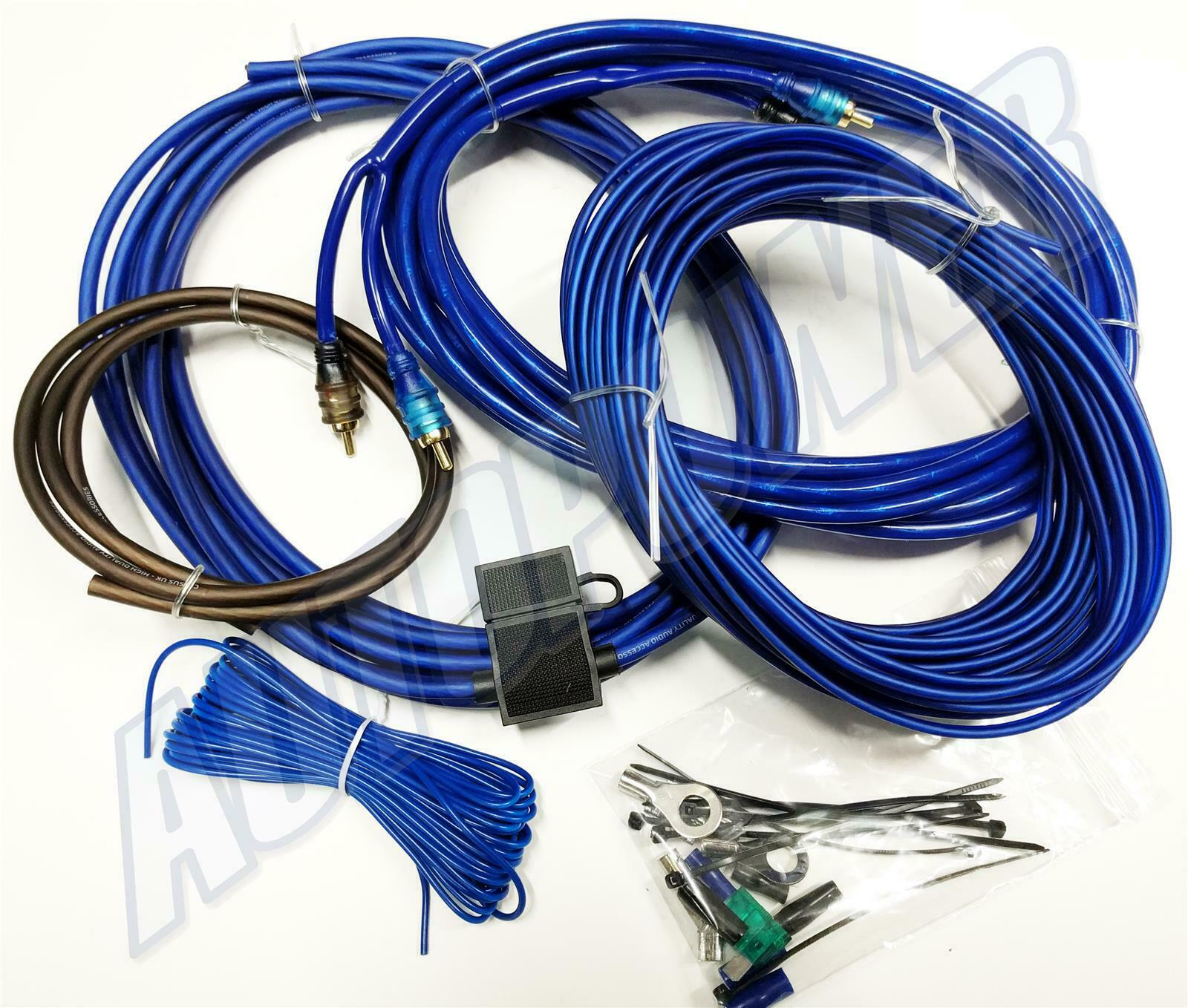 Car Audio 6x9 Speakers Amp Wiring Kit 600 Watt Upgrade Power Cables 1 Of 1free Shipping