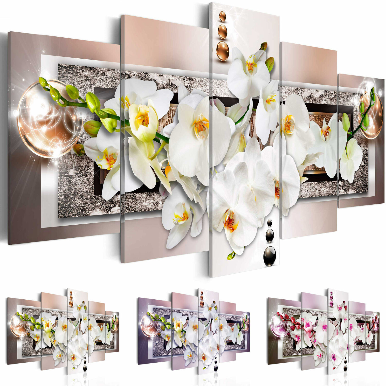 leinwand bilder xxl blumen orchidee abstrakt wandbilder wohnzimmer b a 0085 b n eur 24 90. Black Bedroom Furniture Sets. Home Design Ideas