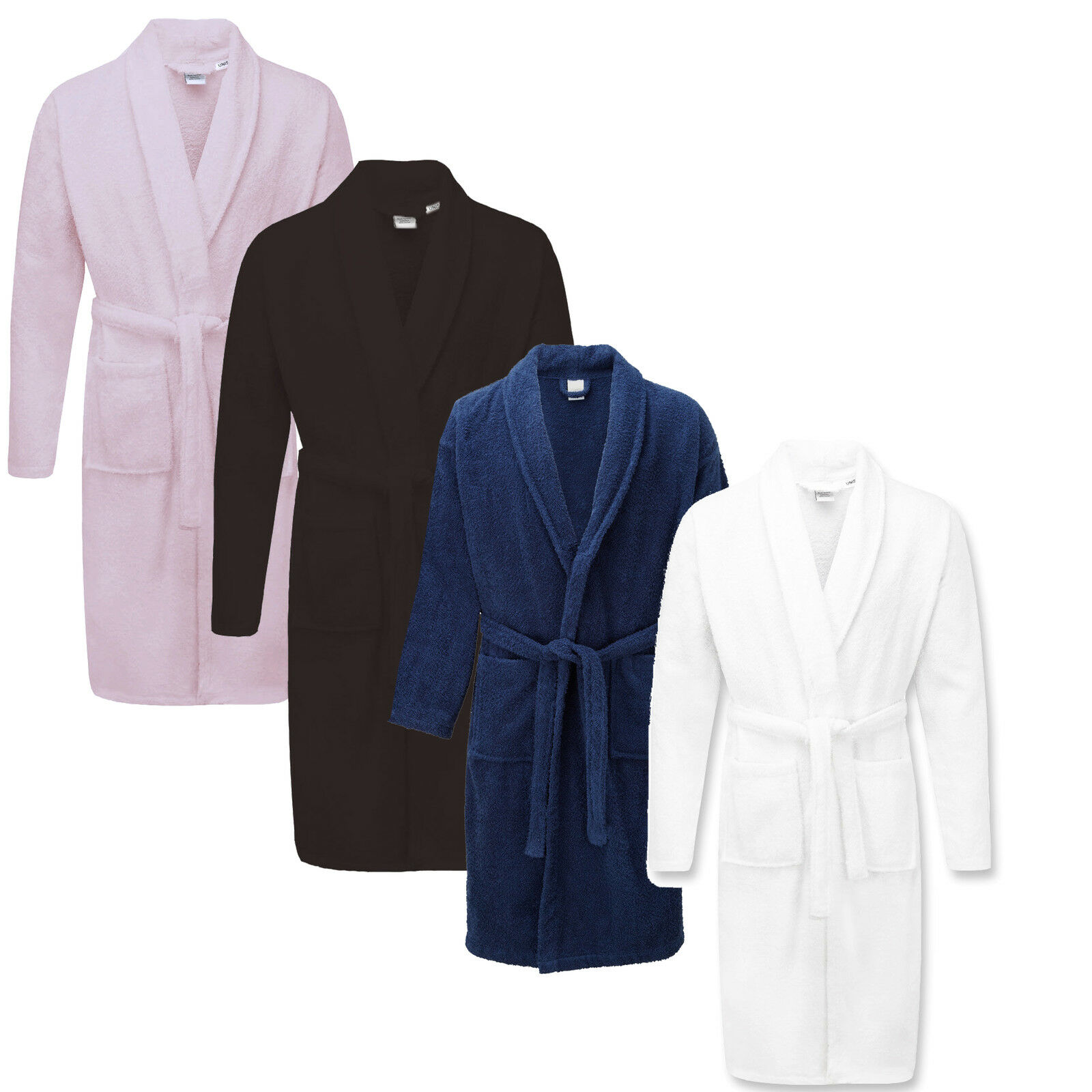 NEW 100% EGYPTIAN Cotton Dressing Gown Shawl Towelling Bath Robe ...