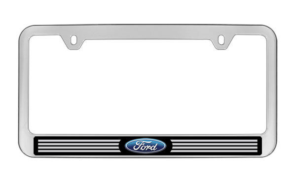 FORD CHROME PLASTIC License Plate Frame Plate Holder - $11.99 | PicClick