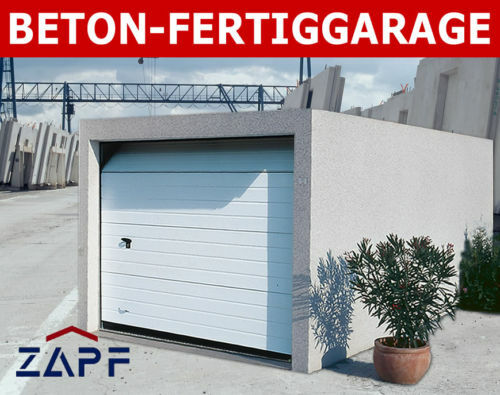zapf beton fertiggarage garage mit sektionaltor eur picclick de. Black Bedroom Furniture Sets. Home Design Ideas