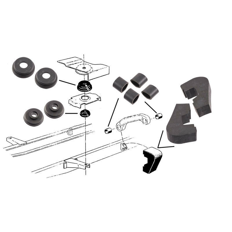 1953-1956 FORD TRUCK Cab To Frame Pad & Bushing Kit Baaa-5400-S ...