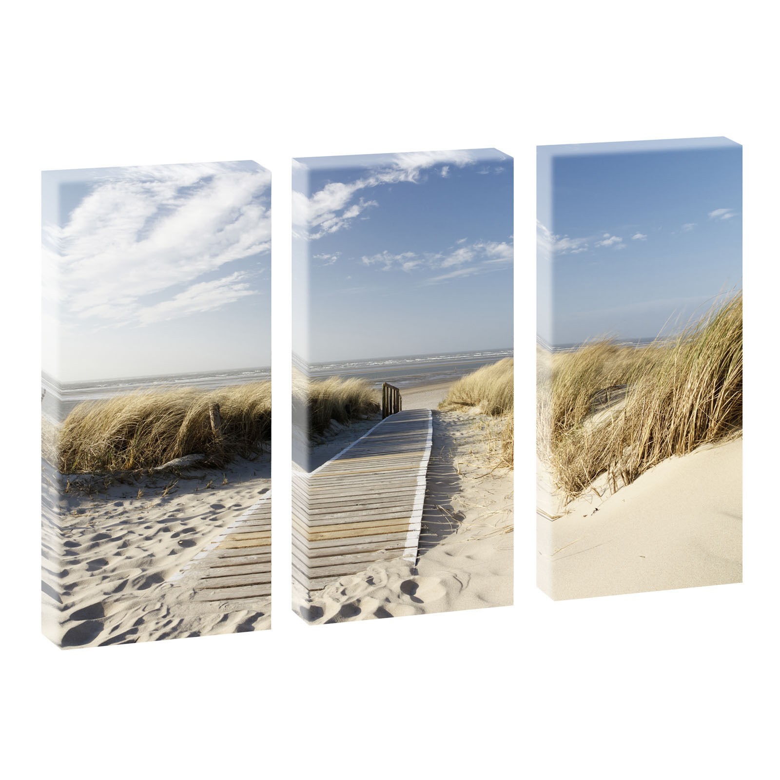 3 bilder poster keilrahmen leinwand strand meer nordsee langeoog 3 40cm 80cm picclick de. Black Bedroom Furniture Sets. Home Design Ideas