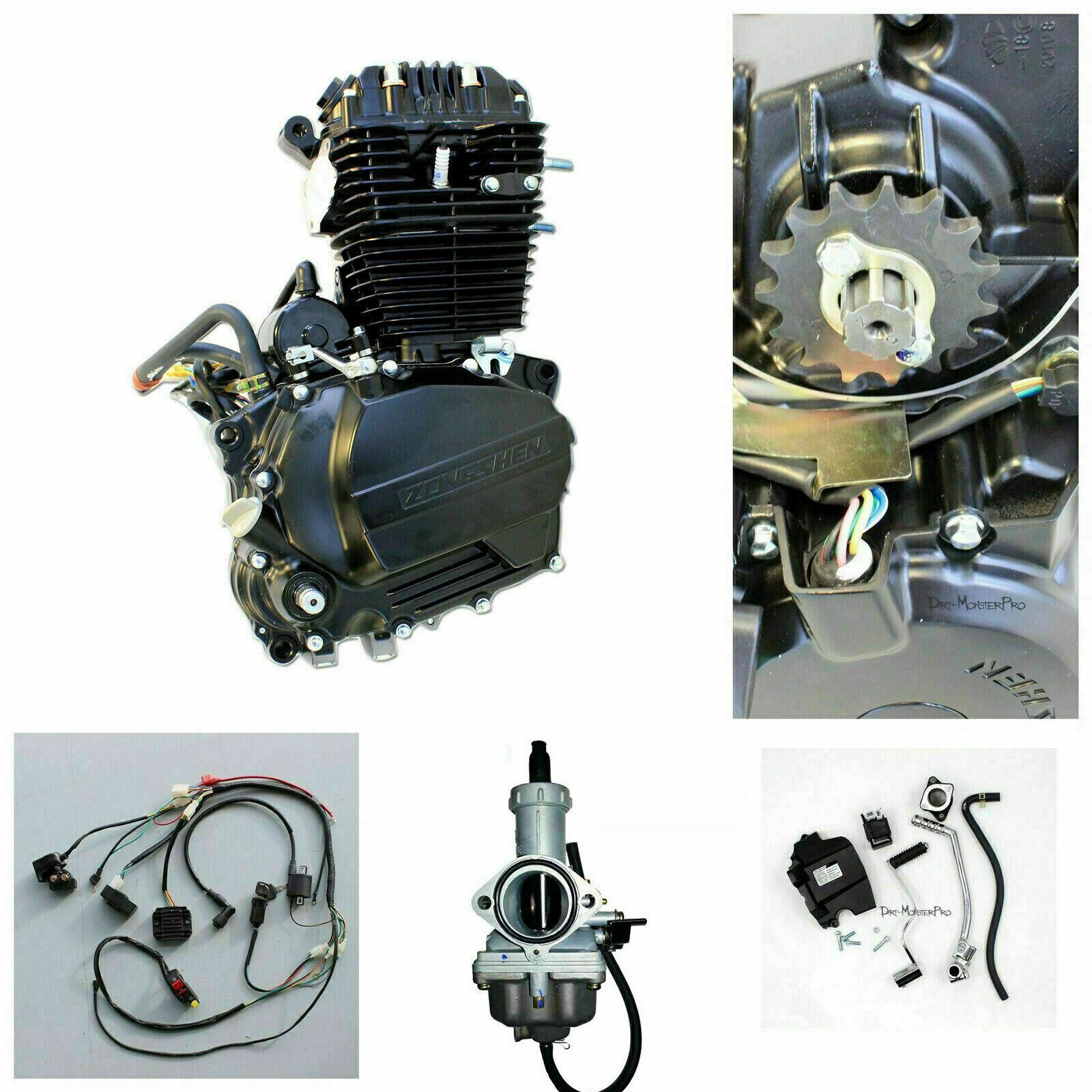 Zongshen 250cc Ohc Engine Motor Manual Clutch Kit Wiring Harness Pit Loom Kill Switch For 50cc 110cc 125 140 150 160cc Dirt Bike 1 Of 7free Shipping See More