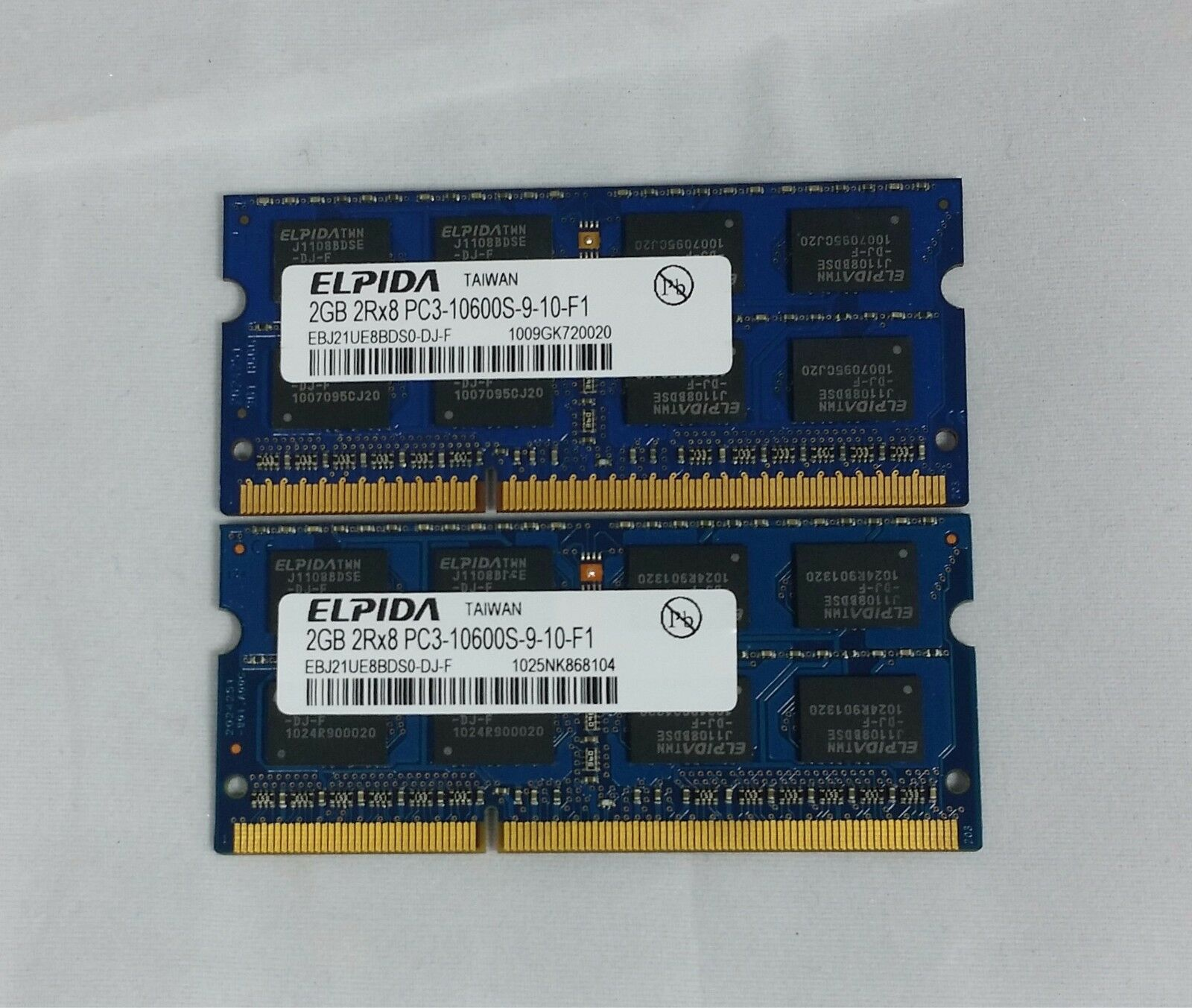 Elpida 4gb 2x2gb Ddr3 Pc3 10600s 2rx8 Laptop Memory Ram 1999 Ddr2 2gb Pc2 6400 Asli Jepang 1 Of 2only 5 Available