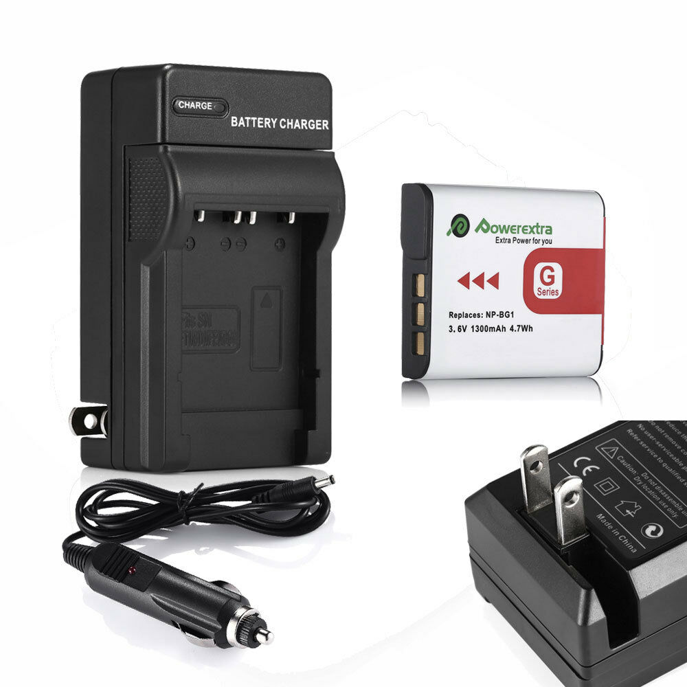Type G Battery Charger For Sony Cybershot Dsc Np Bg1 H10 H20 H50 Wasabi Power Fw50 1 Of 12 See More