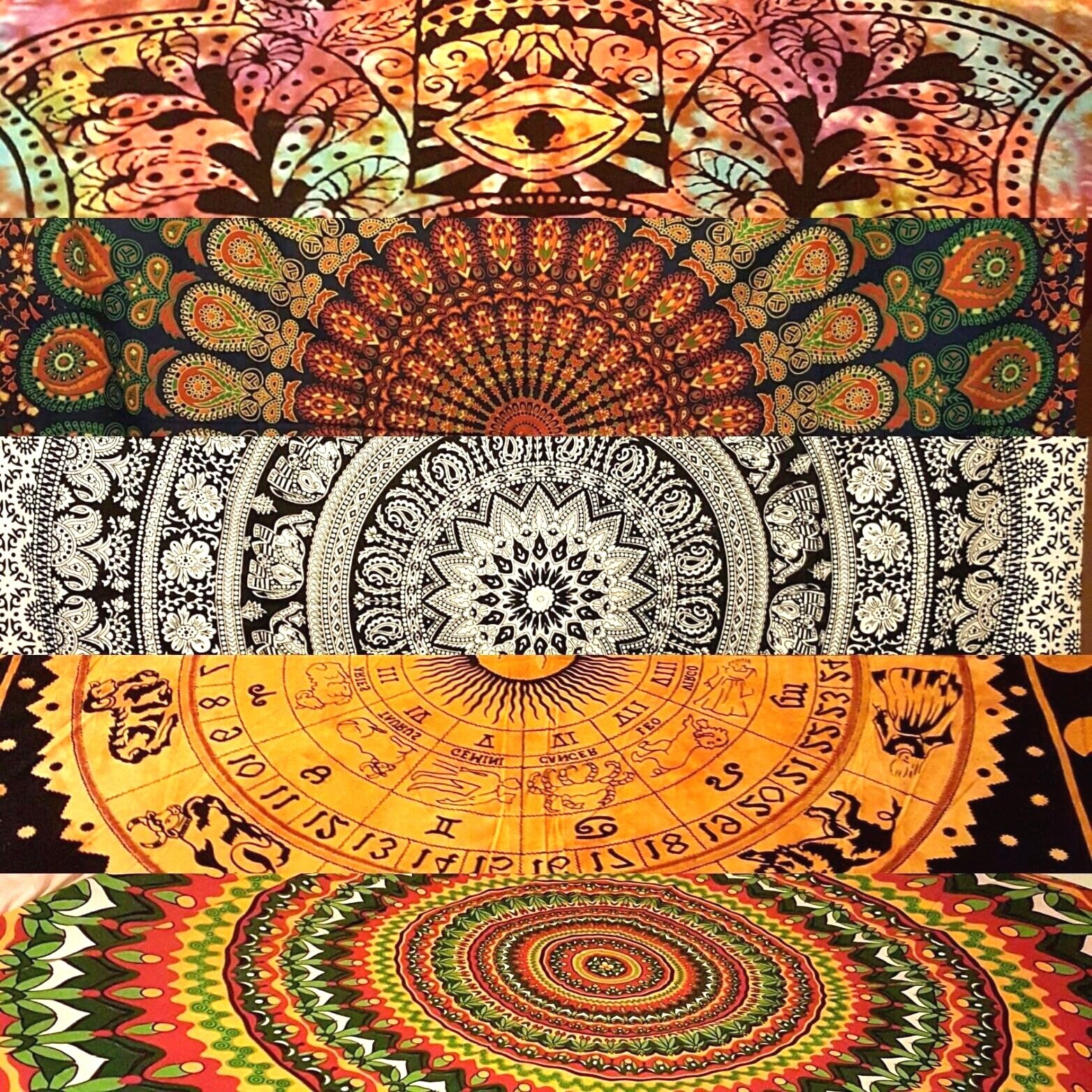 Indian Tapestry Wall Hanging Mandala Hippie Gypsy ...