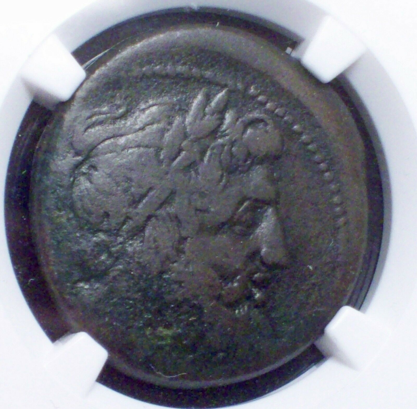 220 BC SICILY - NGC Ancients The Mamertini GREEK Coin -AE Pentonkion Graded Fine