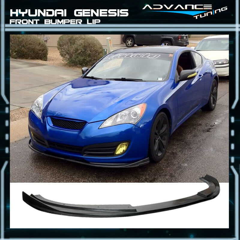 Fit For 10 12 Hyundai Genesis Coupe Sport Front Bumper Lip Spoiler PU 1 Of  1Only 5 Available See More