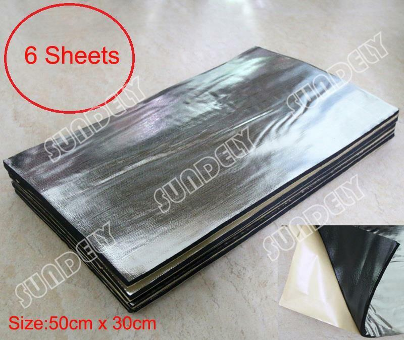 6 sheets self adhesive closed cell foam glass fibre 10mm for Sound insulation glass