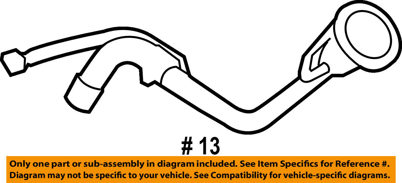 Ford Oem 12 14 F 150 50l V8 Fuel Tank Filler Neck Tube Pipe 2007 Jeep Wrangler Gas Diagram 1 Of 2only Available