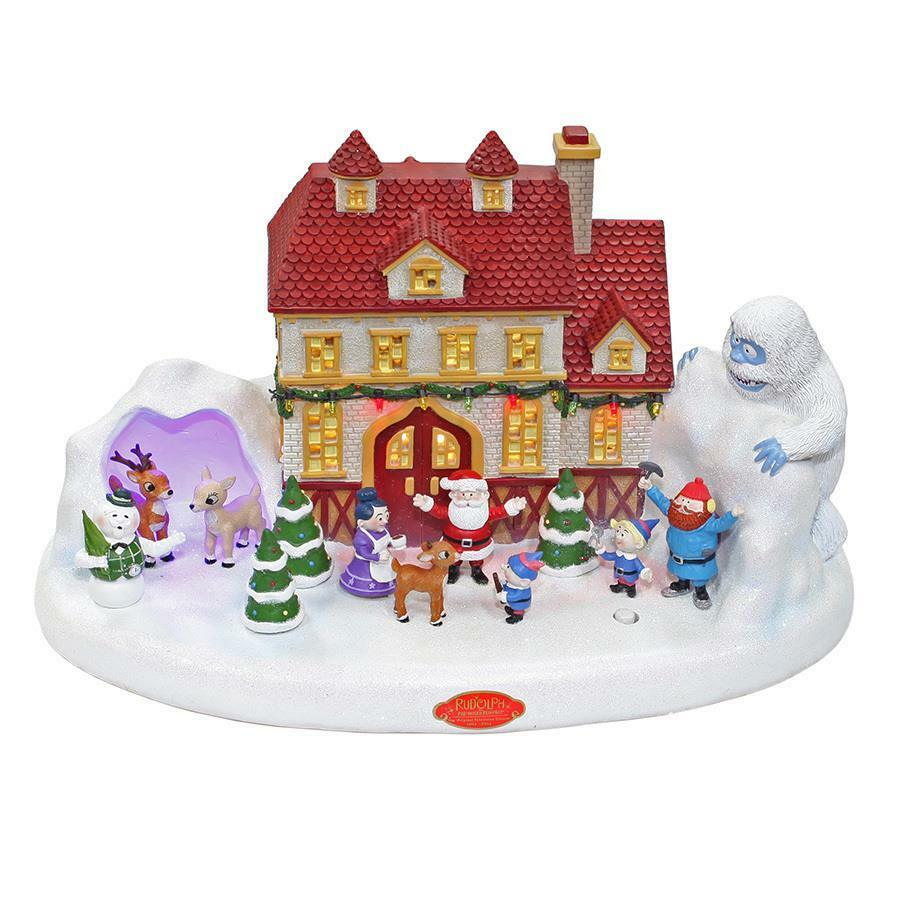rudolph the red nosed reindeer illuminated musical village christmas decor new 1 of 1 see more - Rudolph The Red Nosed Reindeer Christmas Decorations
