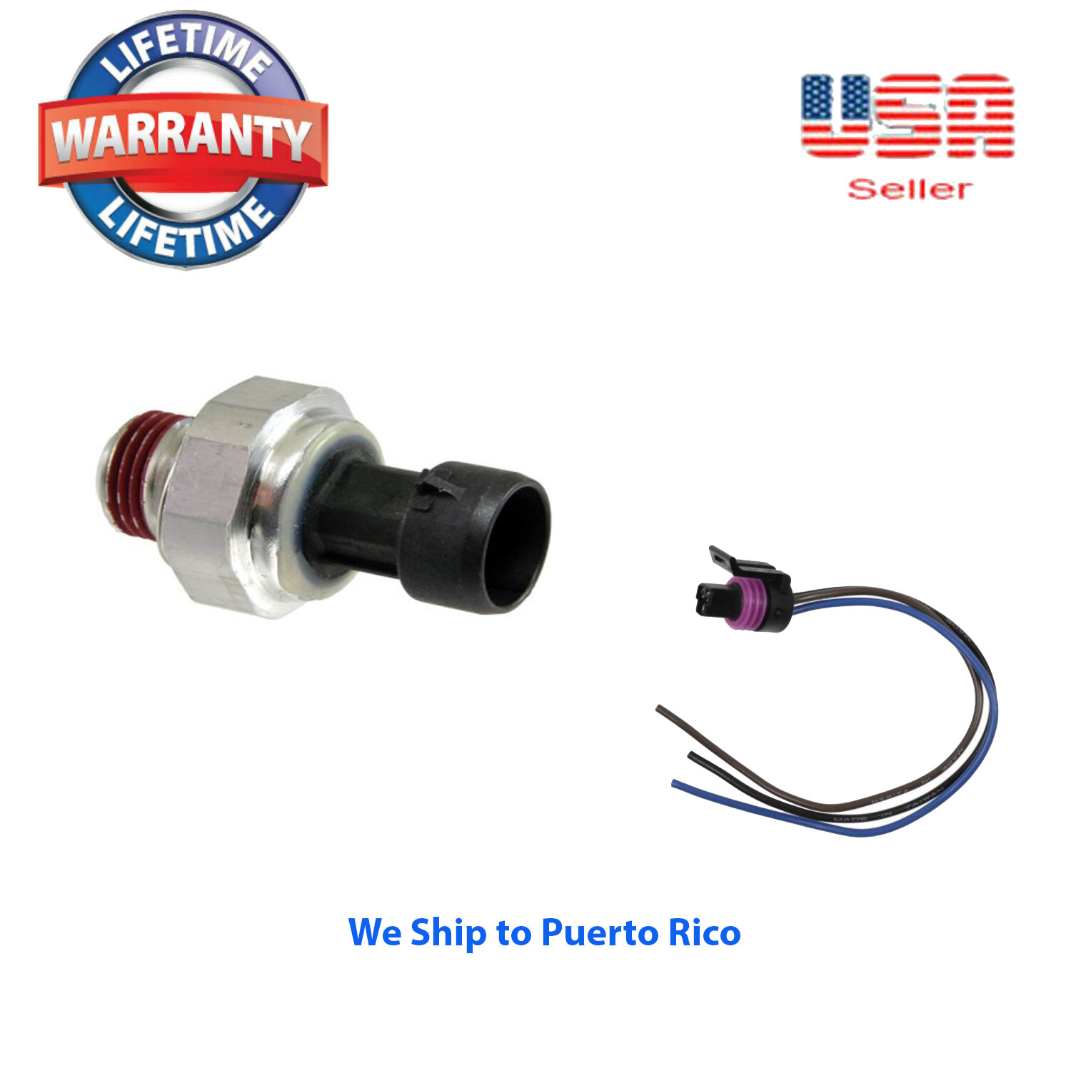 Engine Oil Pressure Sender With Pigtail Connector Kit Fits Gm 1999 Honda Accord Sending Unit 1 Of 1free Shipping