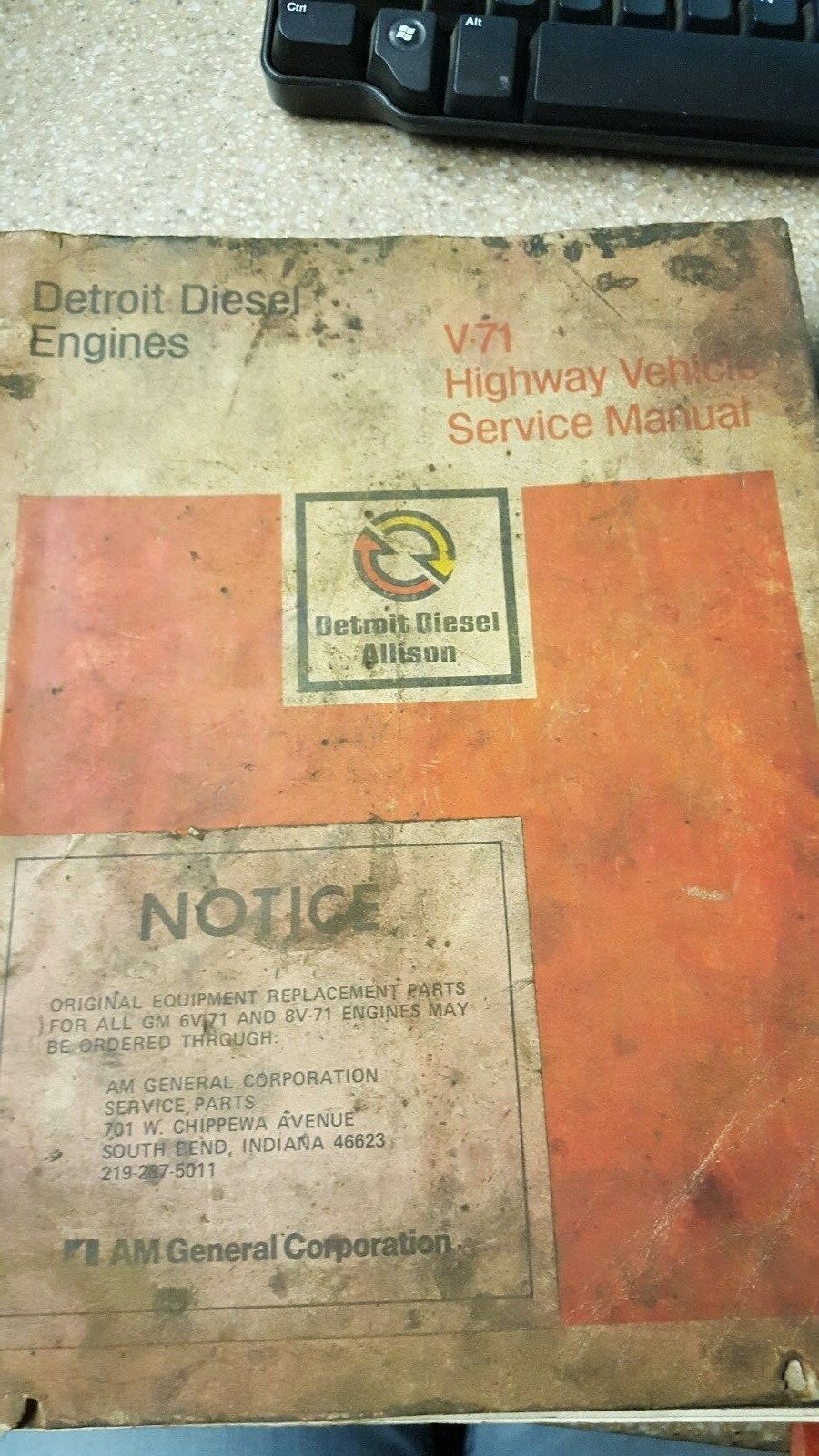 Detroit Diesel V-71 Highway Vehicle Service Manual 1 of 2Only 1 available  ...
