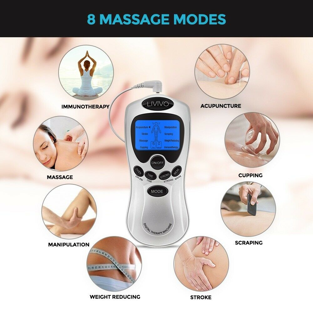 Tens Machine Digital Full Body Massager 8 Pain Relief Therapy Massage Acupuncture Back 1 Of 11free Shipping