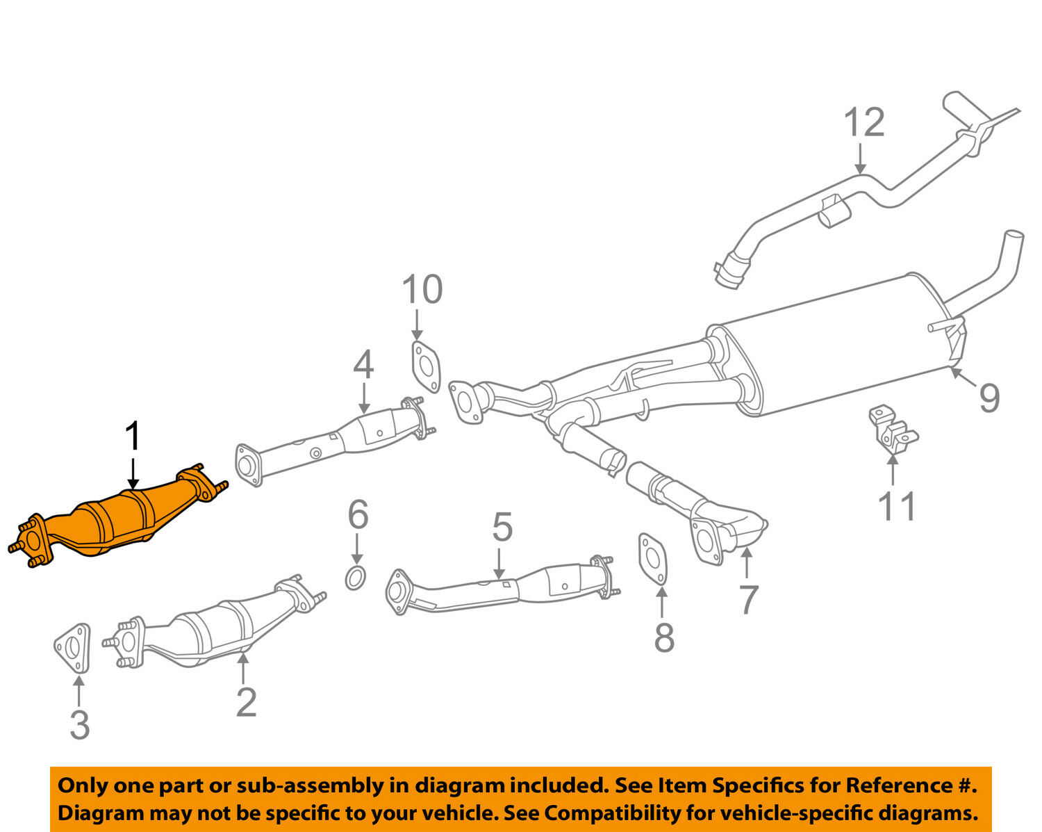 Nissan Oem 13 17 Nv2500 40l V6 Catalytic Converter 208a29ce0a 2004 Mazda 6 3 0 Engine Diagram 1 Of 2only Available