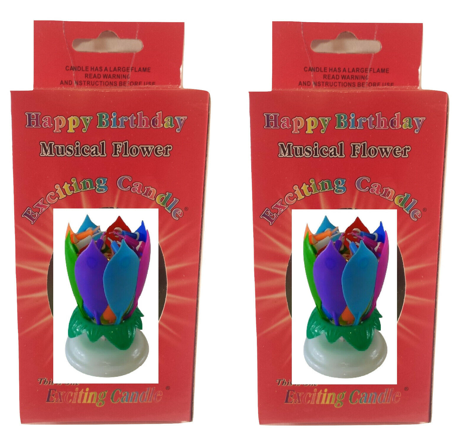 Any 2 Amazing Musical Lotus Flower Exciting Birthday Candles