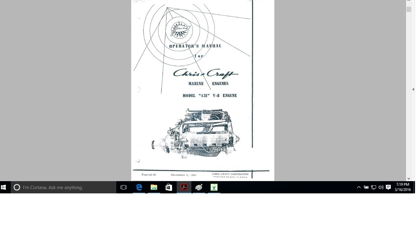 Chris Craft vintage engine manuals 431 Ford parts n Operation 1 of 2Only 1  available ...