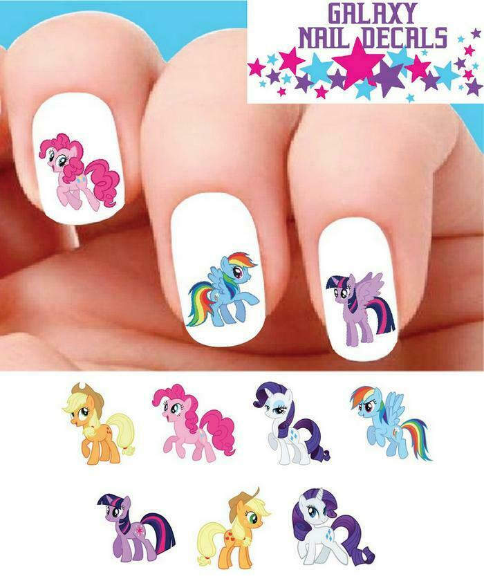 Waterslide Nail Decals Set Of 20 My Little Pony Orted 1 1free Shipping