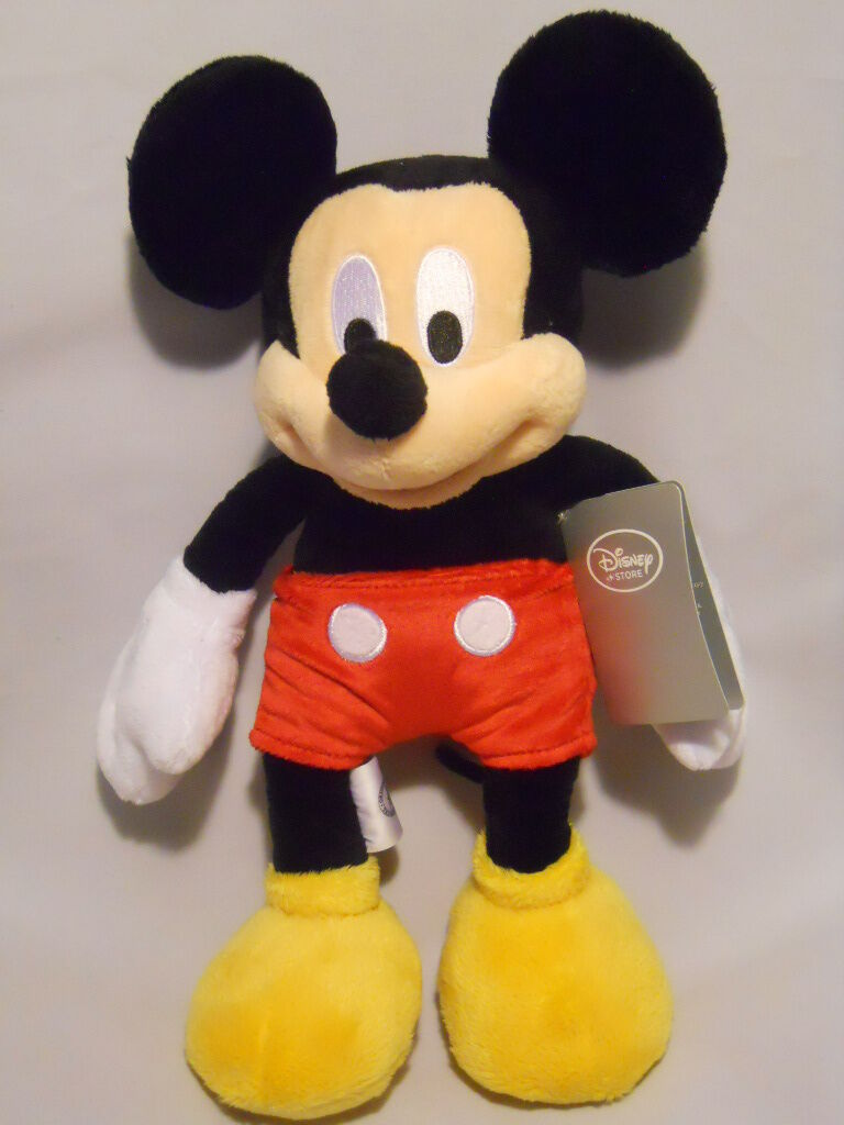 Mickey mouse doll 12 plush disney store new - Disney store mickey mouse ...