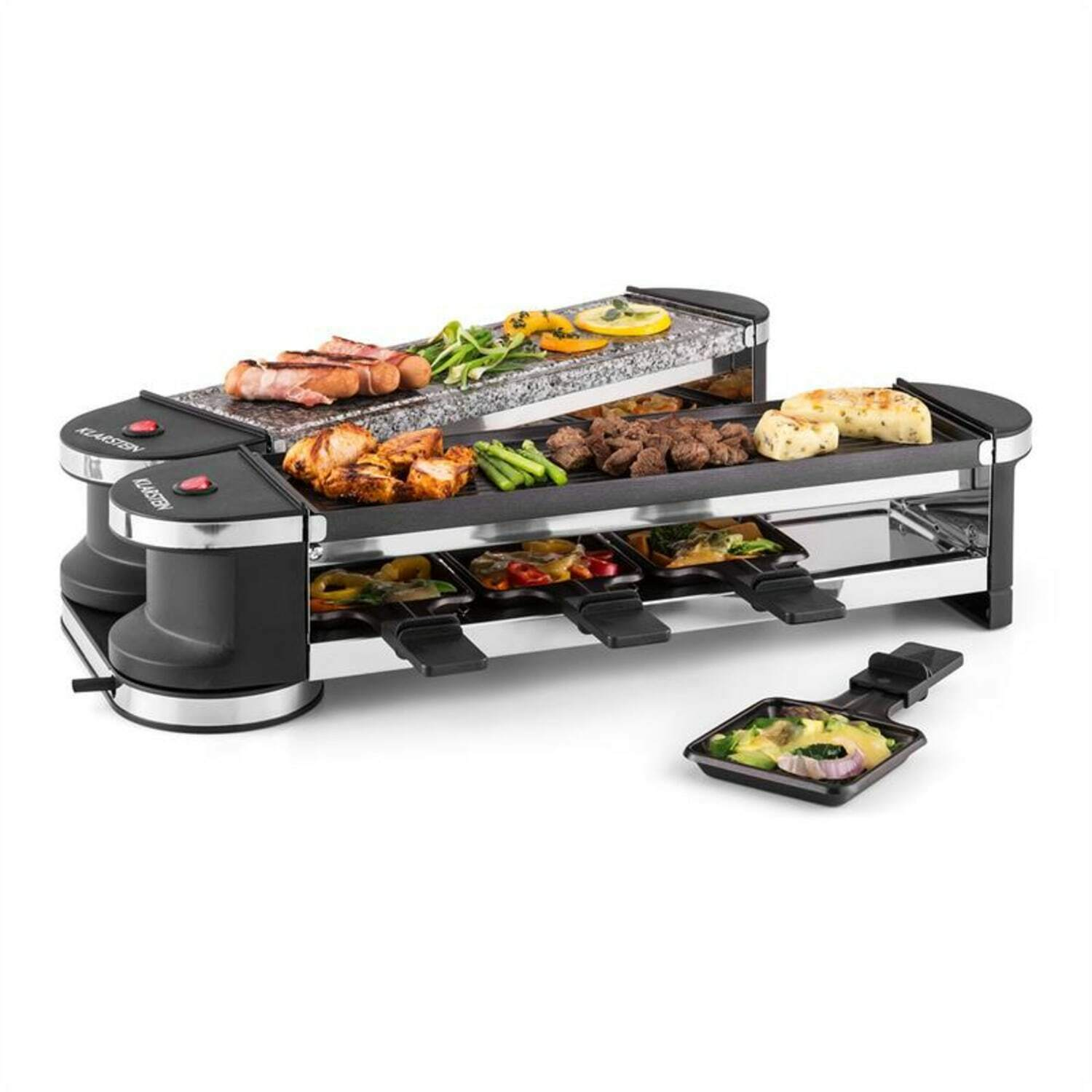 raclette grill hei er stein raclettegrill f r 8 personen. Black Bedroom Furniture Sets. Home Design Ideas