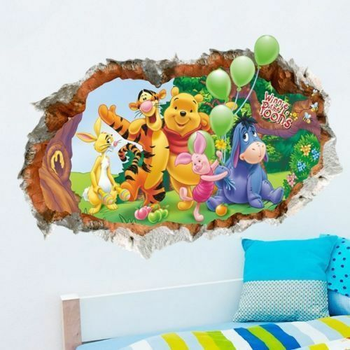 wandtattoo wandsticker 3d winnie pooh tigger wandaufkleber kinderzimmer disney eur 16 49. Black Bedroom Furniture Sets. Home Design Ideas