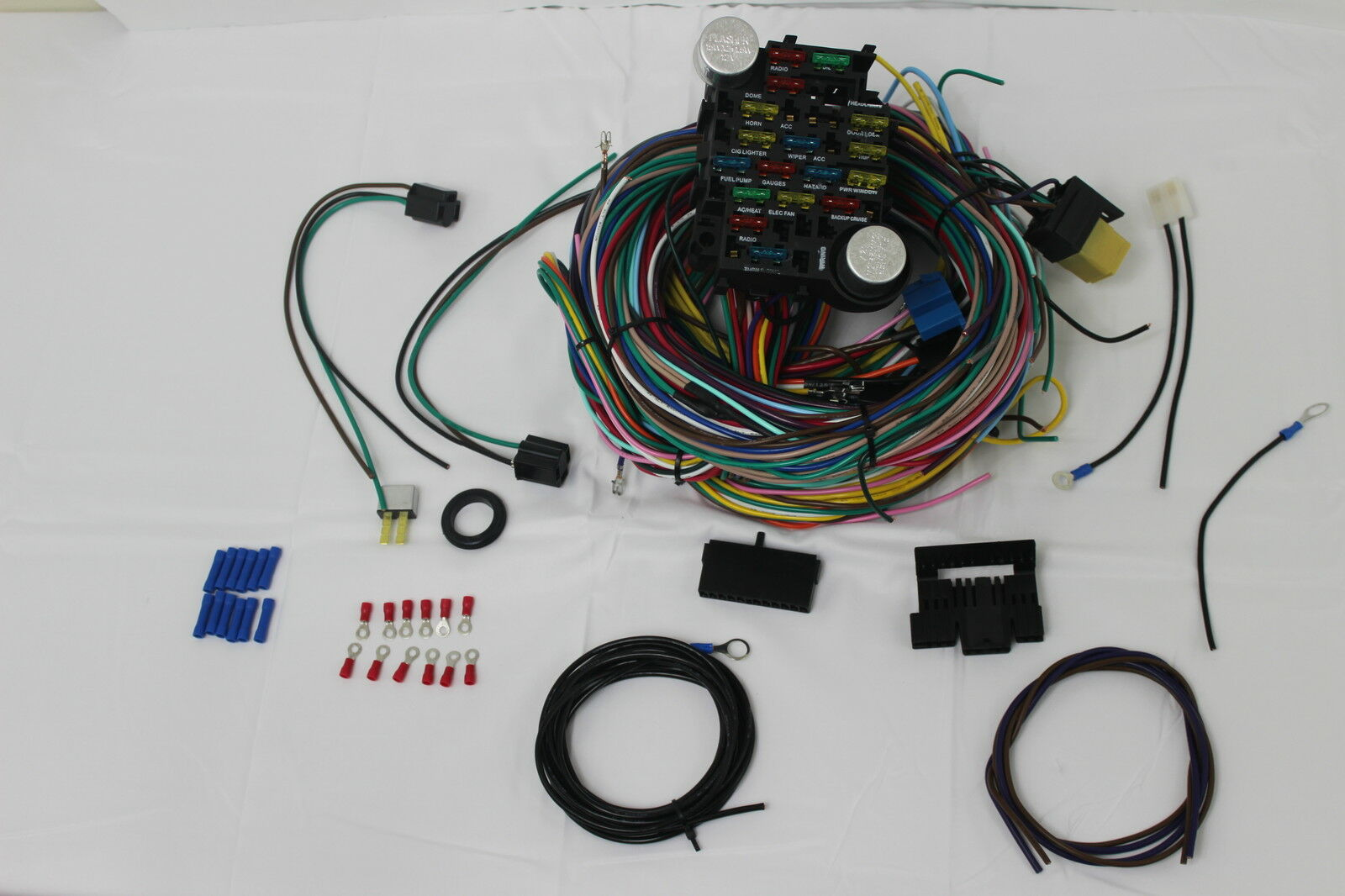 universal chevy gm 12 circuit wire harness kit street hot rat rod rh sellfie co GM HEI Distributor Wiring Trailer Wiring Harness