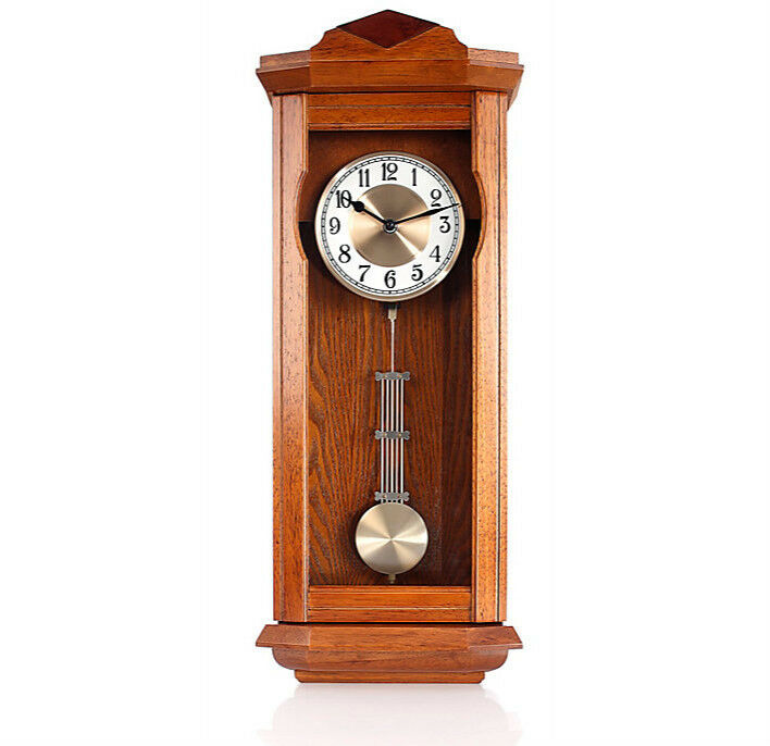 antik funk pendeluhr westminster melodie retro pendel uhr wanduhr funkuhr holz eur 91 05. Black Bedroom Furniture Sets. Home Design Ideas