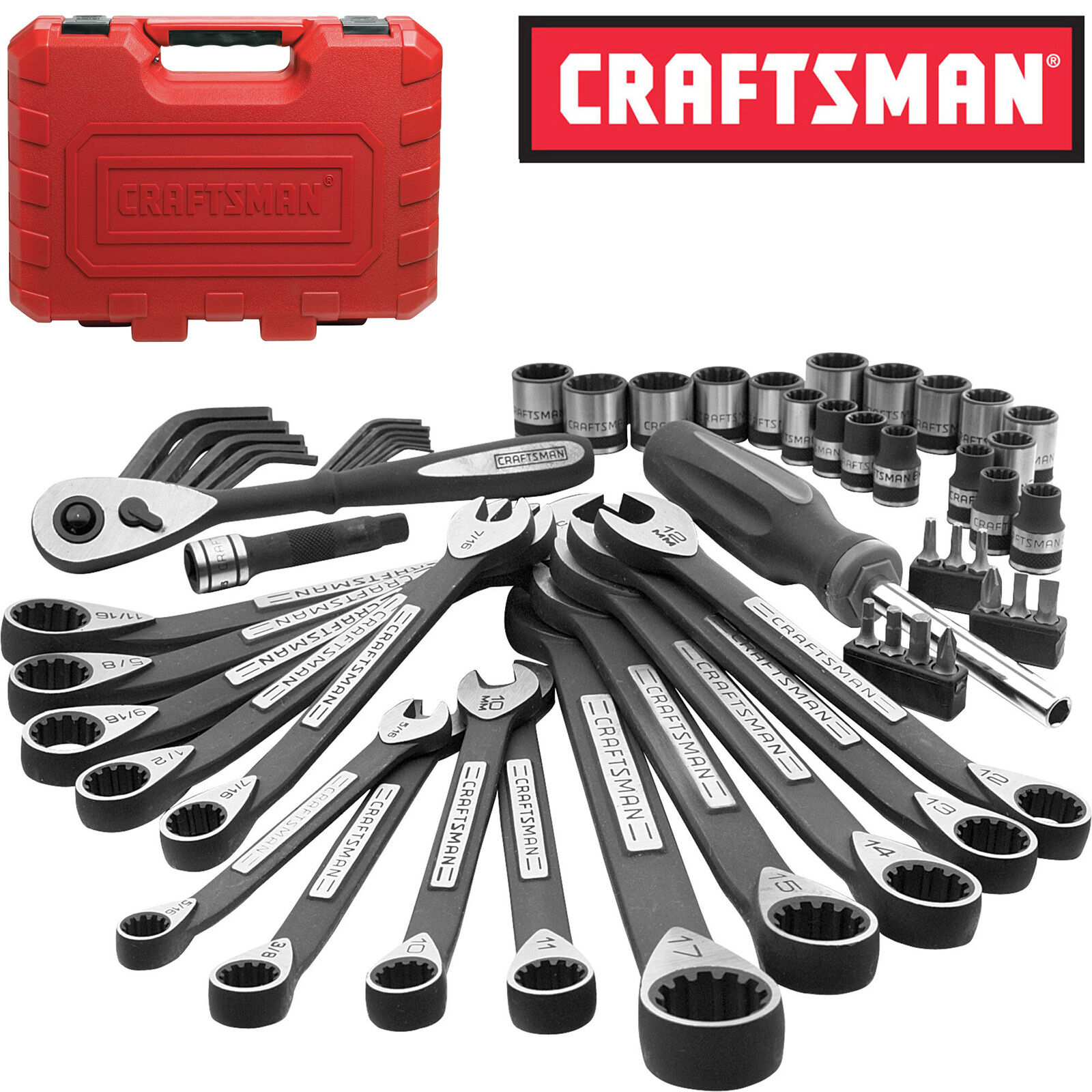 New Craftsman 56 Piece Pc Universal Mechanics Tool Set