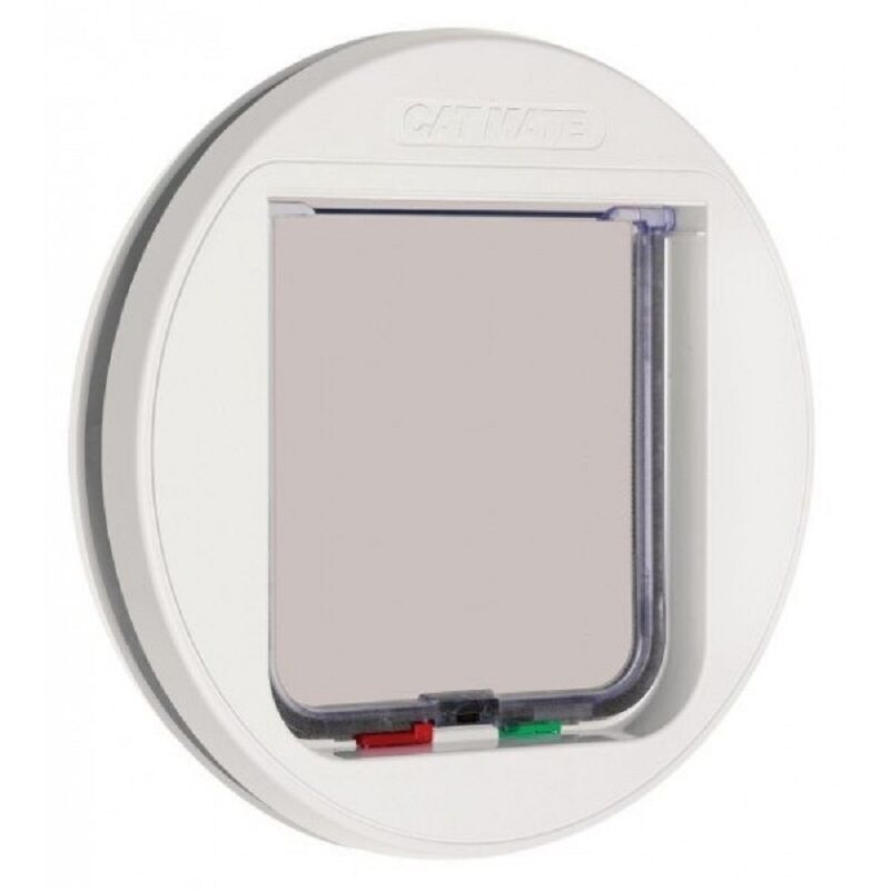 Cat Mate Glass Fitting Lockable Cat Flap - White (210W)