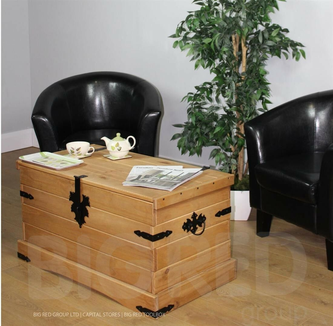 Mexican Pine Coffee Table Corona Mexican Pine Double Storage Trunk Coffee Table Coffee Addicts
