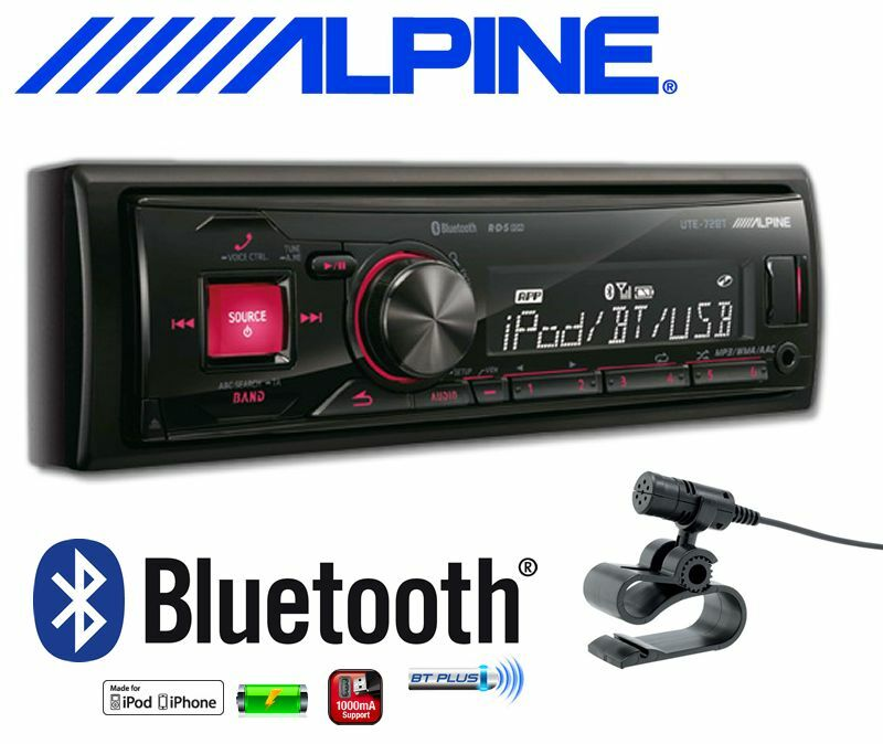 alpine ute 72bt autoradio usb bluetooth microphone main libre eur 109 90 picclick fr. Black Bedroom Furniture Sets. Home Design Ideas