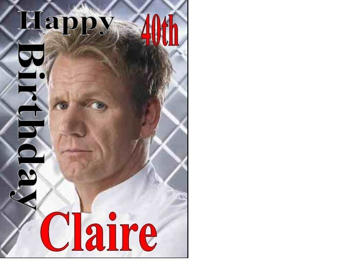 Personalised Gordon Ramsey Chef Birthday Card A5 Any Name Age