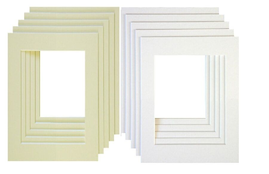 PHOTO FRAME Mounts Bevel Cut Mount for Picture Frame Inserts ...