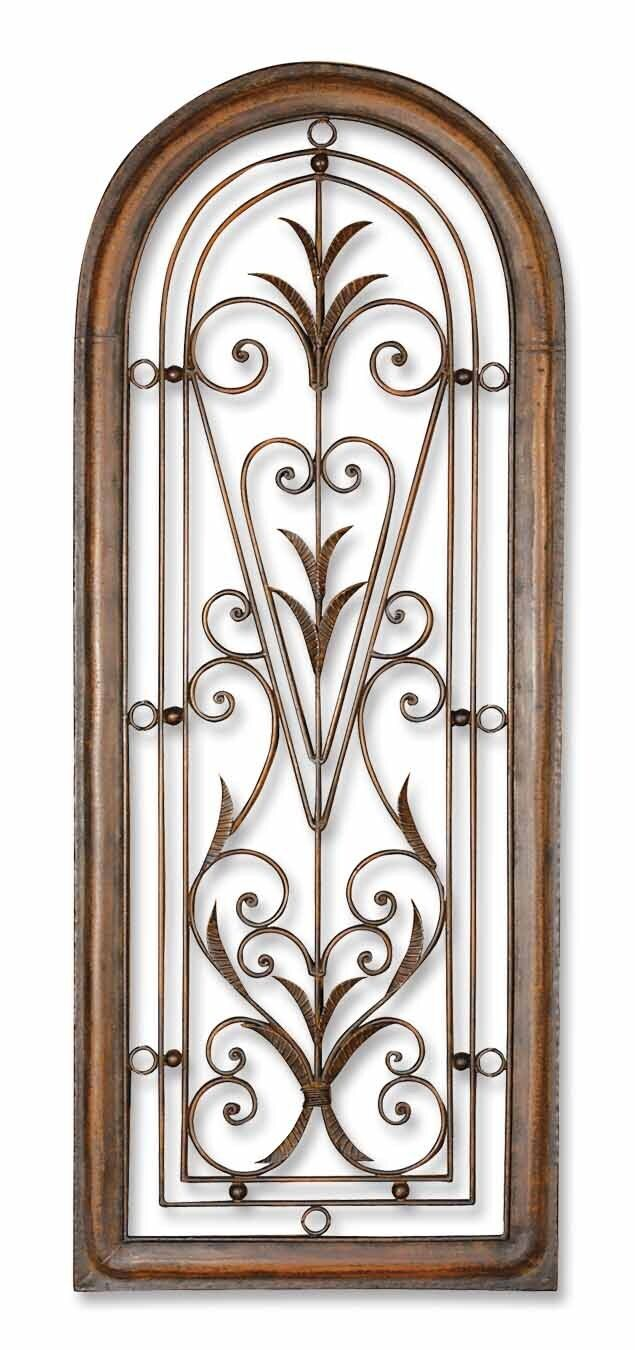 decor scroll wrought iron metal wall grille grill wall art plaque
