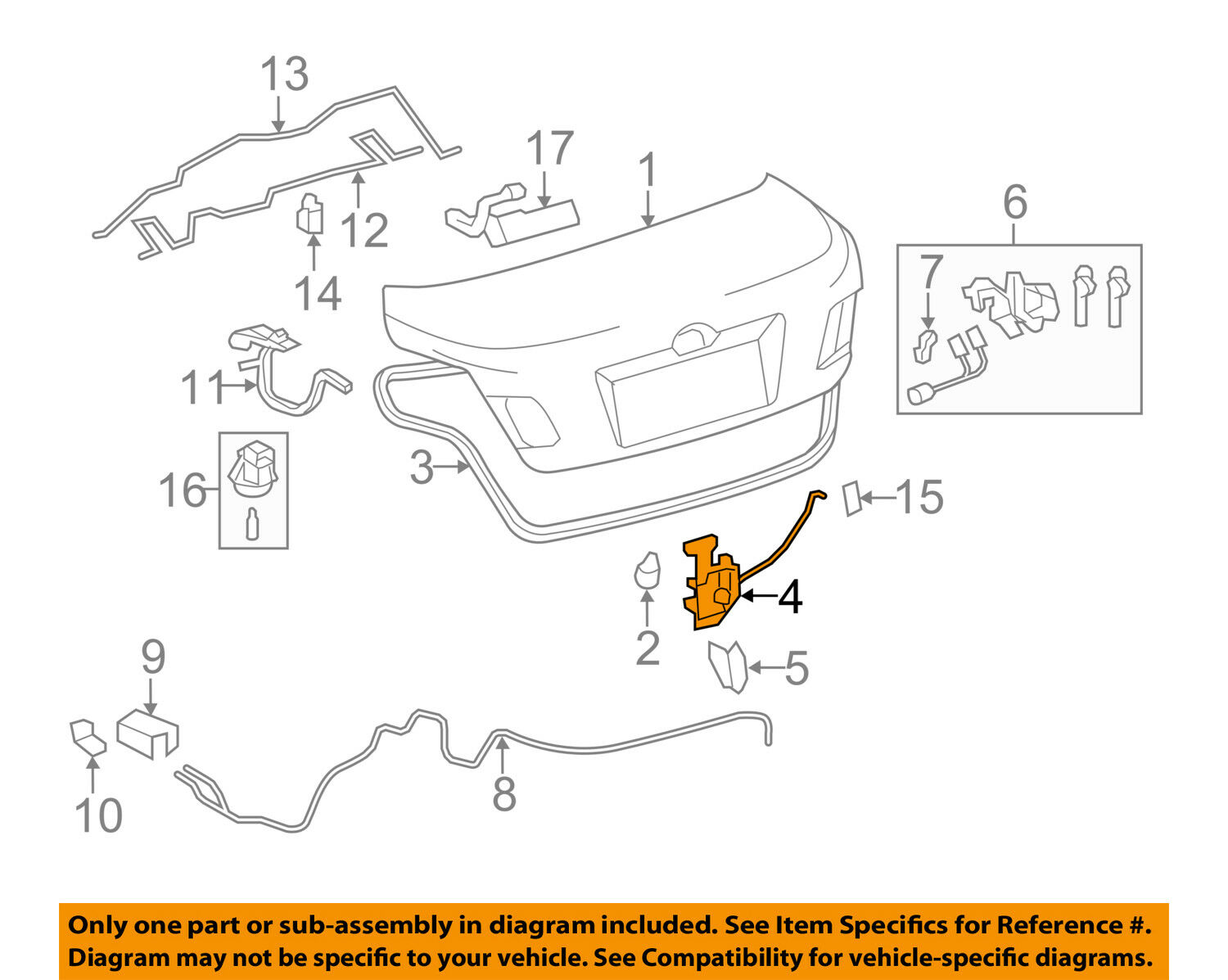 Toyota Oem 07 11 Camry Trunk Lock Or Actuator Latch Release Central Locking Wiring Diagram 1 Of 2only 0 Available