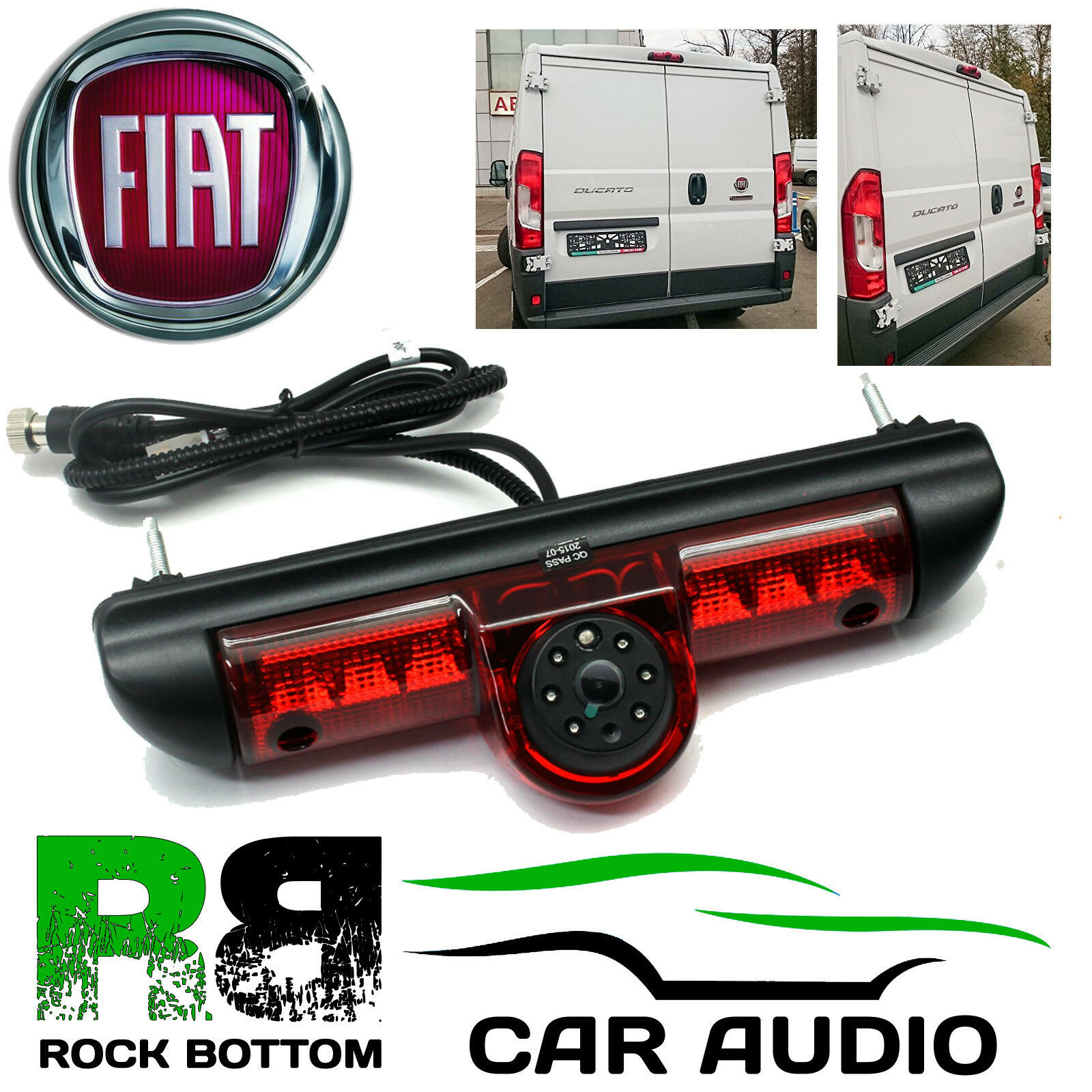 fiat ducato van x250 x290 led brake light rear view reversing camera cam ft1. Black Bedroom Furniture Sets. Home Design Ideas