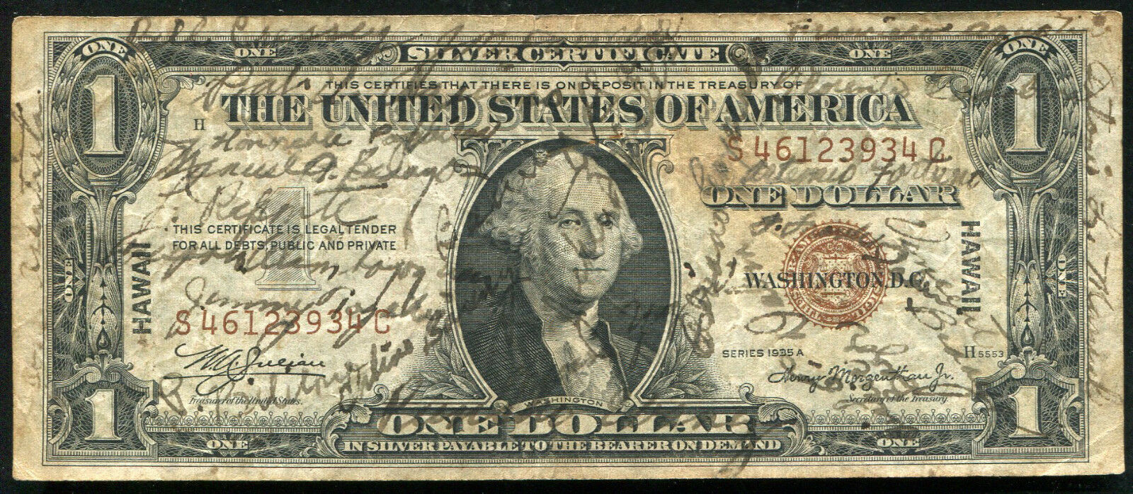1935 a 1 hawaii silver certificate wwii short snorter 50 1935 a 1 hawaii silver certificate wwii short snorter 50 1 of 2 1betcityfo Images
