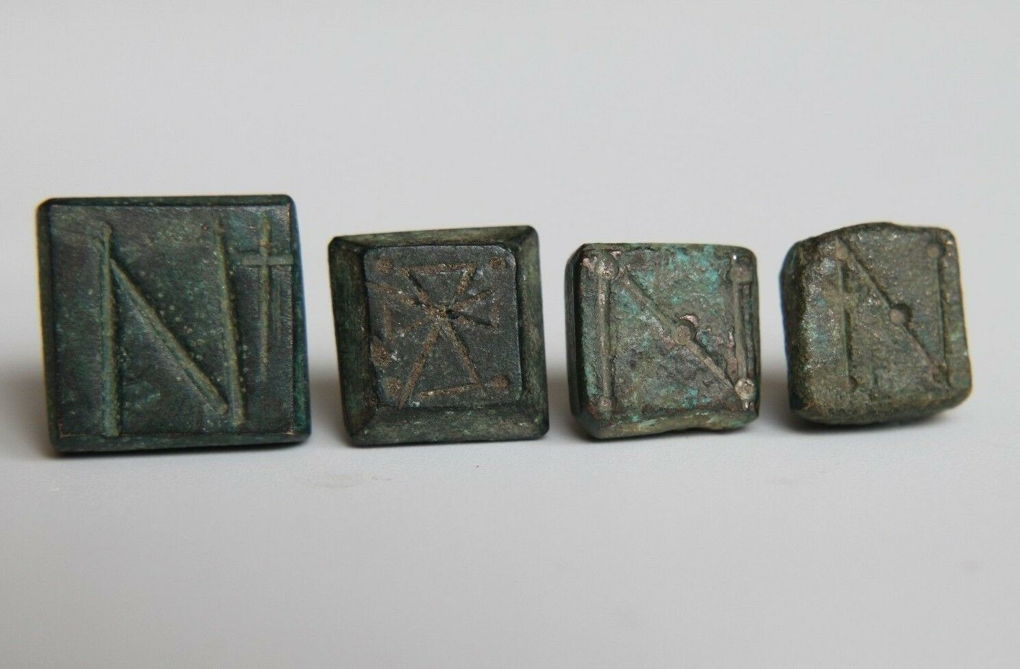 Byzantine Period Groop of 4 Bronze Weights for Scale 500-900 AD