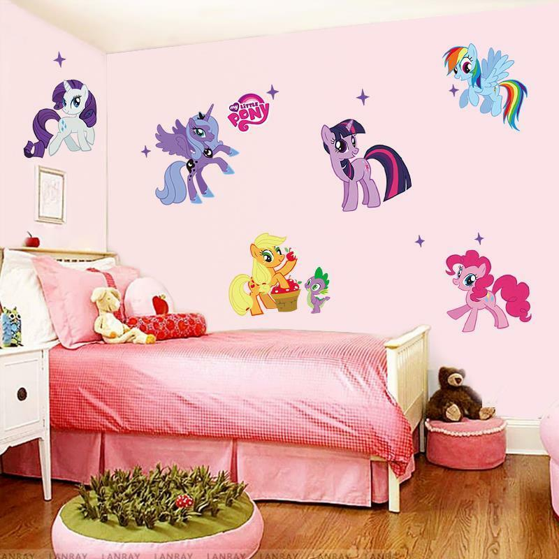my little pony wandtattoo wandsticker kinder wandaufkleber kinderzimmer sticker eur 13 90. Black Bedroom Furniture Sets. Home Design Ideas