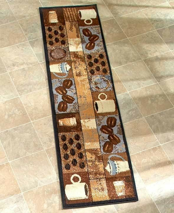 Coffee themed kitchen runner rug soft durable home decor 163 21 17 1