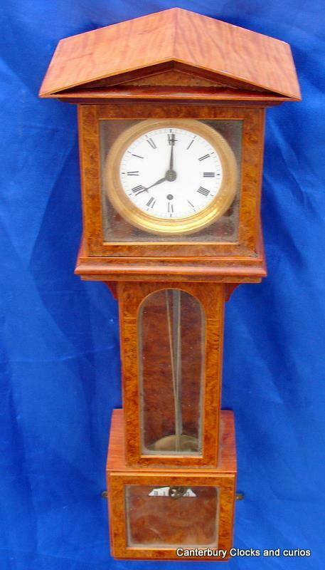 ANTIQUE AUSTRIAN WALNUT LATERNDLUHR APPRENTICE VIENNA REGULATOR WALL CLOCK 1830c