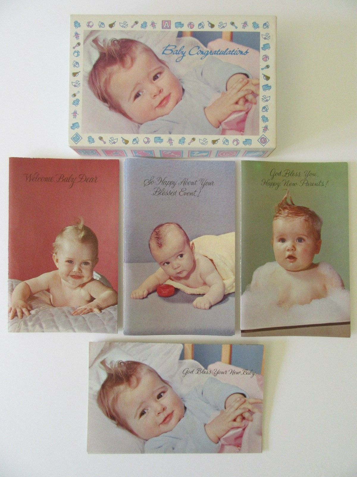 Vtg Welcome Baby Congratulations 11 Greeting Card Bible Verse