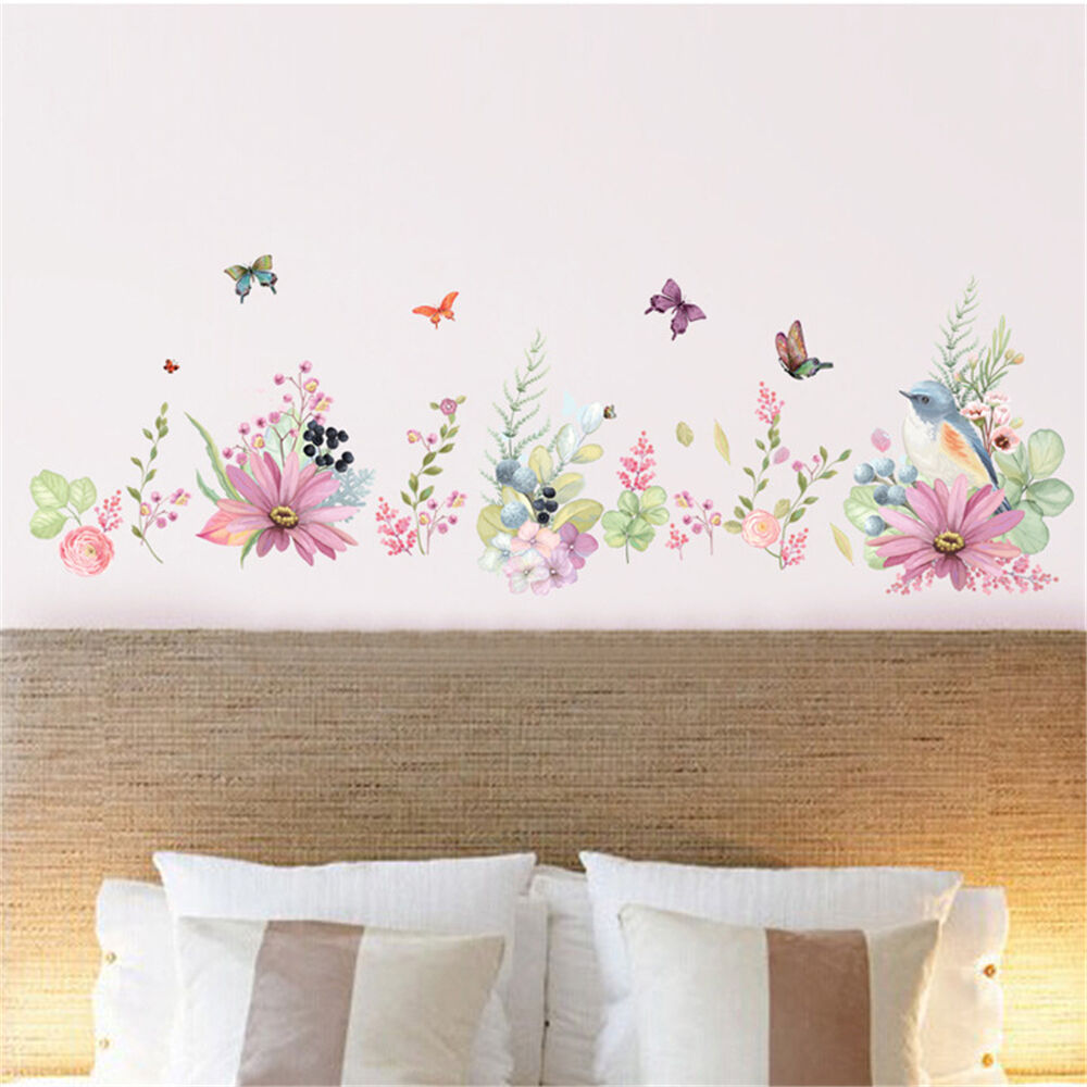 Flowers Bird Butterfly Home Room Decor Removable Wall