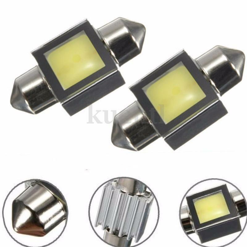 2x 31mm led cob soffitte sofitte auto lampe innenraumbeleuchtung birne wei 12v eur 3 19. Black Bedroom Furniture Sets. Home Design Ideas